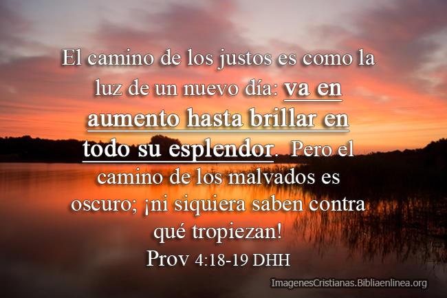 proverbios el camino de los justos imagen cristiana