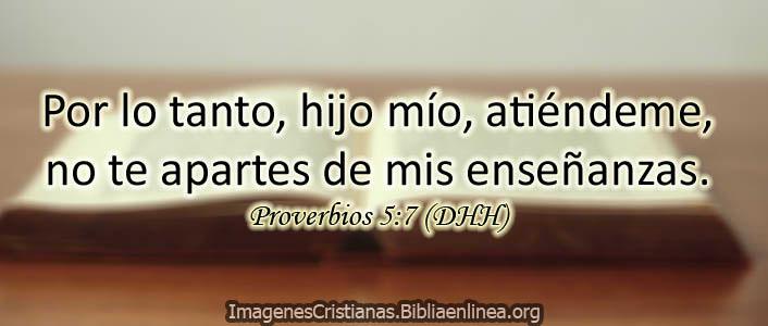 Proverbios DHH no te apartes de mis palabras