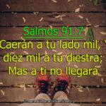 Salmo de protección: Caerán a tu lado mil, con Imagenes