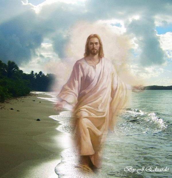 imagen o foto de Jesus Nazaret caminando