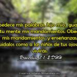 Proverbios de guardar los mandamientos del Señor