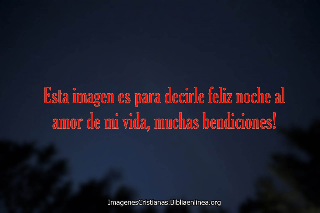 feliz noche amor amor de mi vida