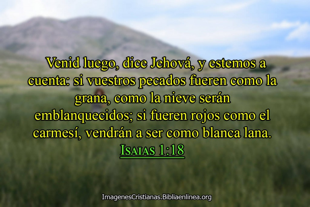Si tus pecados fueren como la grana imagen cristiana