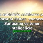 Imágenes de Prov 9:10 La sabiduría comienza por honrar al Señor
