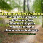 Tips para ser mejores Cristianos