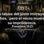 Proverbios de hoy justos y los necios