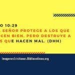 Proverbios 10:29 El Señor protege a los que hacen bien