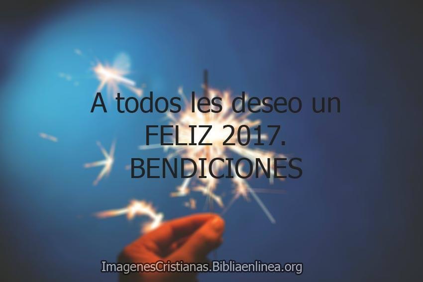 Imagenes de feliz 2017 cristianas con frases