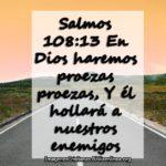 Salmos 108:13 En Dios haremos proezas proezas, Y él hollará a nuestros enemigos