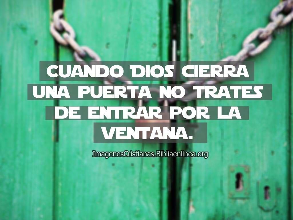 Frase cristiana cuando dios cierra una puerta