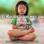 Imagenes Cristianas de Hasta aquí nos ayudó Jehová