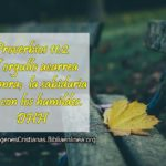 Proverbios El orgullo acarrea deshonra
