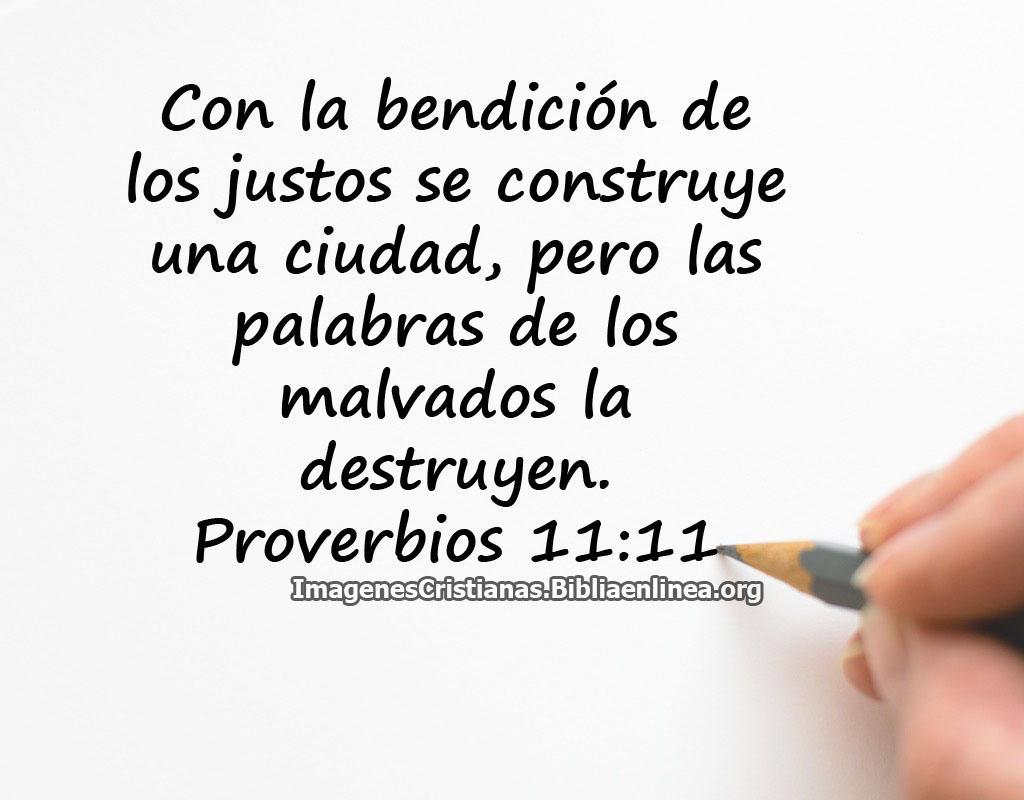 Proverbios la bendicion del justo