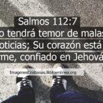 Imagenes de Salmos 112:7 Su corazón está firme, confiado en Jehová