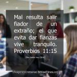 Proverbios consejo no ser fiador