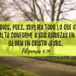 Dios suplira todo imagenes cristianas