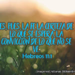 Es pues la fe la certeza de lo que se espera imagen cristiana