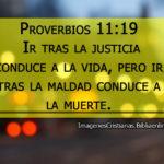 Proverbios: Ir tras la justicia conduce a la vida