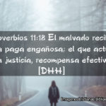 Proverbios: El malvado recibe una paga engañosa (con imagenes)