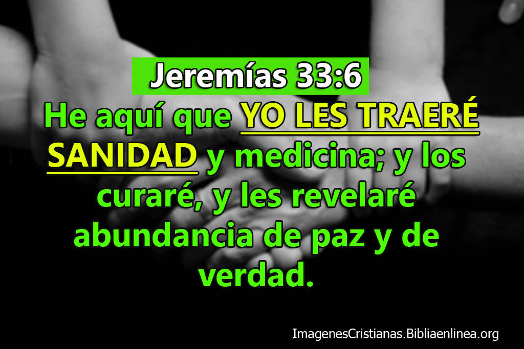 Versículos de la biblia con promesas de sanidad