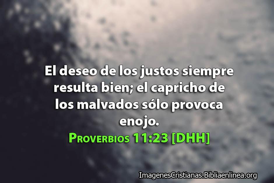 Proverbios de la semana el deseo de los Justo