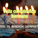 Imágenes Cristianas de feliz cumpleaños hermano
