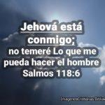 Salmos 118:6 e imagenes Jehová está conmigo