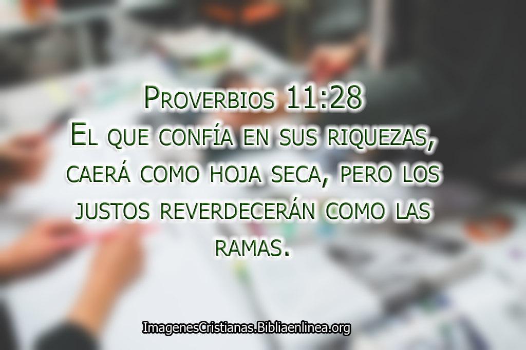 Proverbios los justos y los que confian en dios