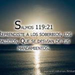 Salmos 119:21 Reprendiste a los soberbios, los malditos