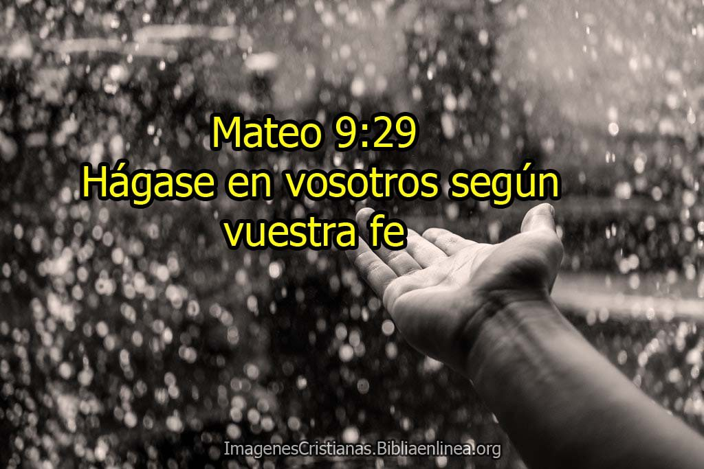 Imagenes cristianas Mateo 9:29 hagase en vosotros segun nuestra fe