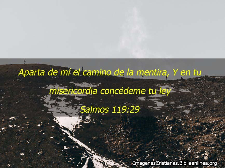 Aparta del camino de la mentira salmos