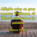 Salmos 119.107 Afligido estoy en gran manera; Vivifícame