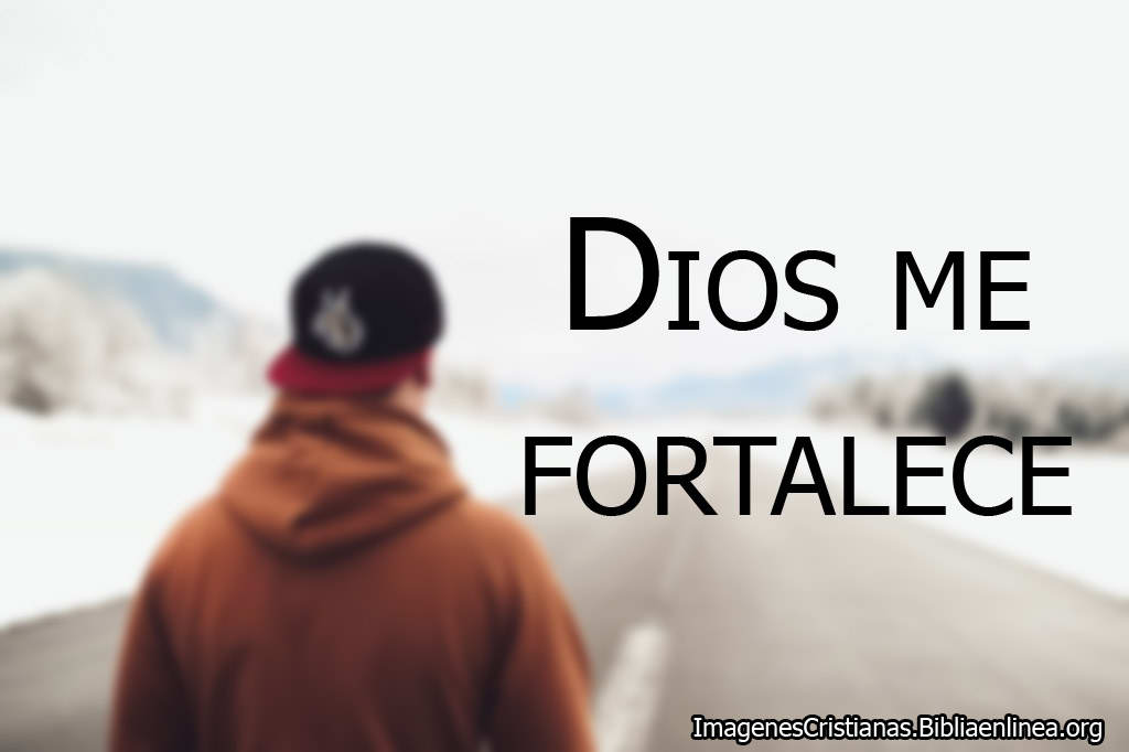 Dios me fortalece imagen cristiana