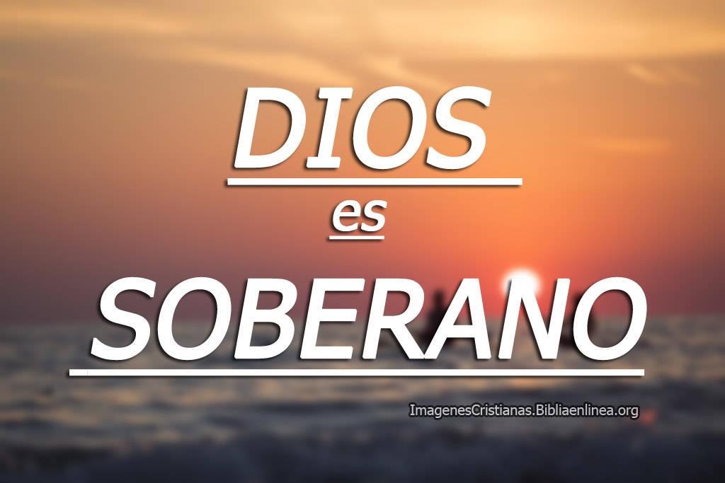 Dios es soberano imagen