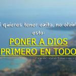 Imágenes cristianas: poner a Dios siempre primero