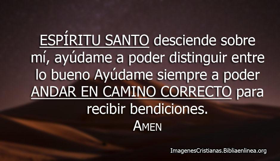 Oracion espiritu santo