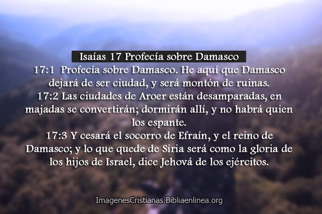 Imagenes cristianas pasajes con profesia sobre damasco