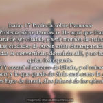 Pasajes de la profecía de Damasco (e Imágenes cristianas)