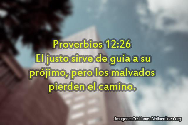 Proverbios los justos sirven de guia