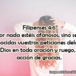Imágenes y pasaje de la Biblia Filipenses 4:6