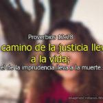 Proverbios el camino de justicia