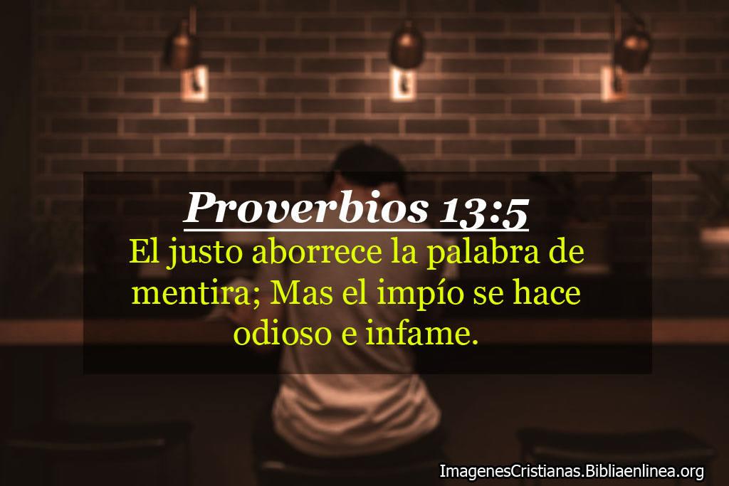 Proverbios sobre justo y mentiras