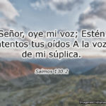 Salmos sobre dios escucha mi oracion