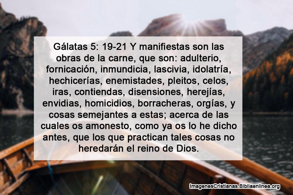 Manifiestas son las obras de la carne en la biblia