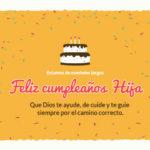 Tarjetas cristianas felicidades por tu cumpleaños hija