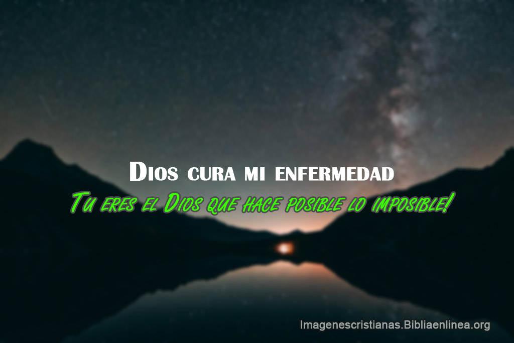 Dios cura mi enfermedad imagen