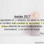 Isaías 53:7 Angustiado él, y afligido, no abrió su boca