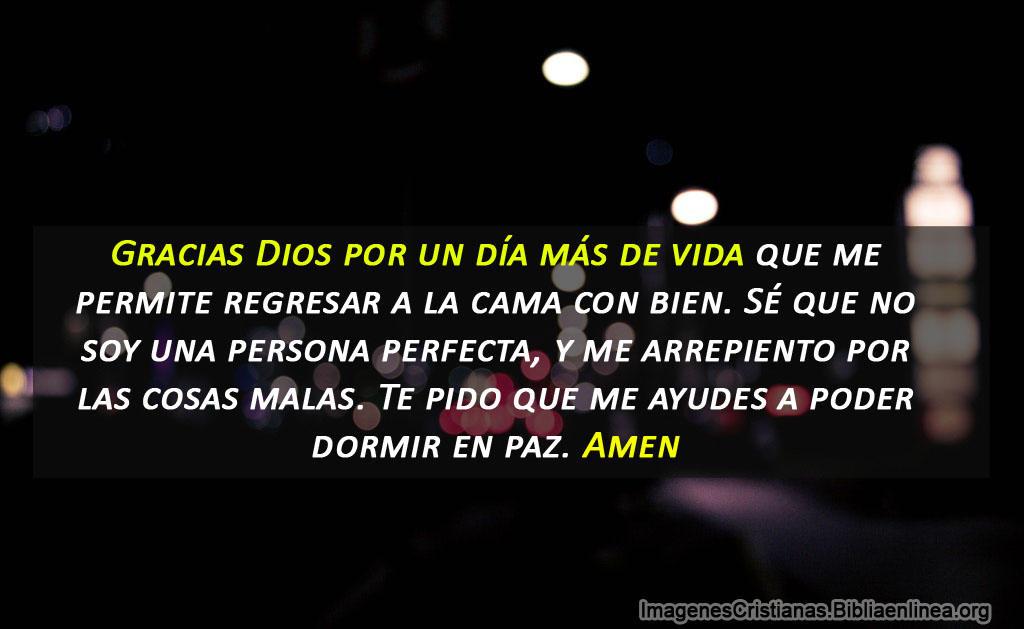 Oración antes de dormir