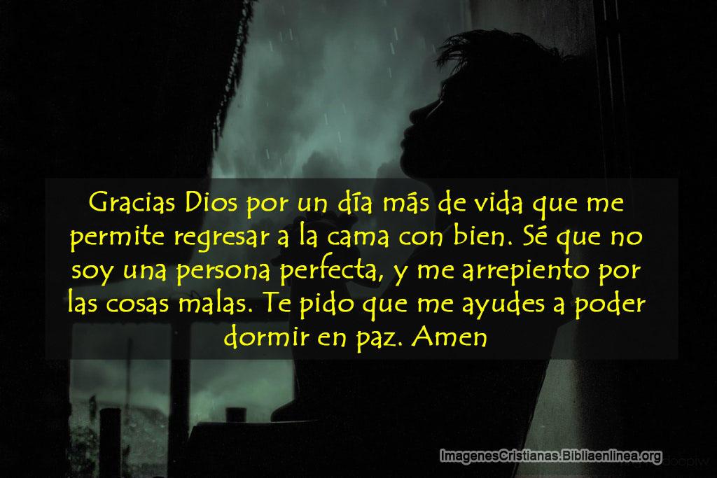 Imagen cristiana con oracion antes de dormir