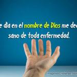 En el nombre de Dios me declaro sano – Imagenes Cristianas
